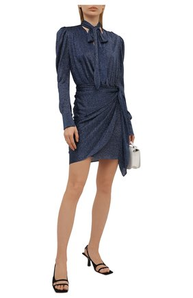 Женское платье из вискозы LANVIN темно-синего цвета, арт. RW-DR0101-4810-E21   Фото 2