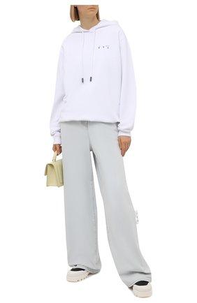 Женские джинсы OFF-WHITE светло-голубого цвета, арт. 0WYA028S21DEN003 | Фото 2