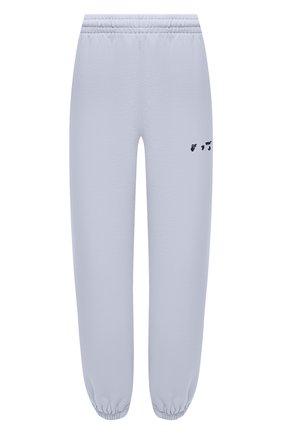 Женские хлопковые джоггеры OFF-WHITE сиреневого цвета, арт. 0WCH006S21JER001 | Фото 1