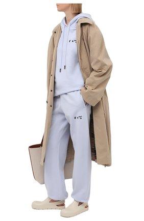 Женские хлопковые джоггеры OFF-WHITE сиреневого цвета, арт. 0WCH006S21JER001 | Фото 2