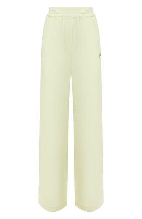 Женские брюки из вискозы OFF-WHITE светло-зеленого цвета, арт. 0WCA125S21FAB004 | Фото 1