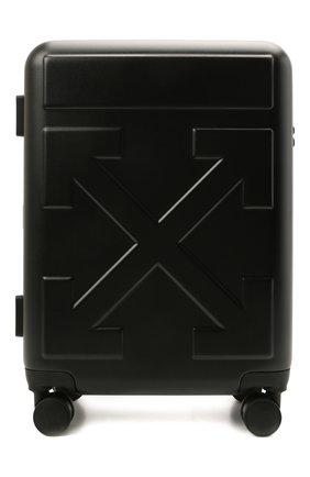Мужской дорожный чемодан OFF-WHITE черного цвета, арт. 0MNG007S21MAT001 | Фото 1