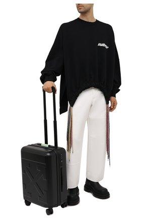 Мужской дорожный чемодан OFF-WHITE черного цвета, арт. 0MNG007S21MAT001 | Фото 2