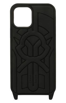 Чехол для iphone 12/12 pro 5 moncler craig green MONCLER GENIUS черного цвета, арт. G1-09H-6B700-00-02SWK | Фото 1
