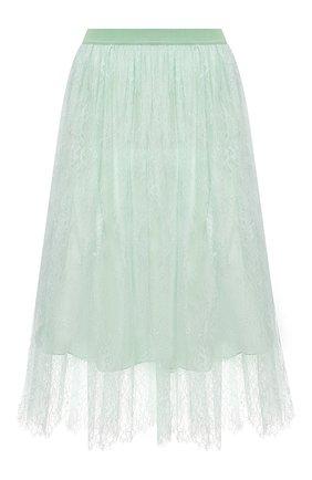 Женская юбка ERMANNO FIRENZE светло-зеленого цвета, арт. D38ET GN05PIZ | Фото 1