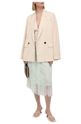 Женская юбка ERMANNO FIRENZE светло-зеленого цвета, арт. D38ET GN05PIZ | Фото 2