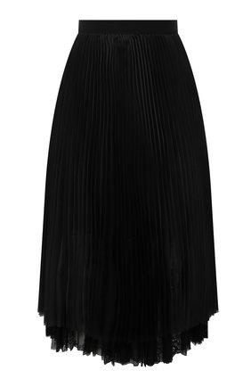 Женская плиссированная юбка ERMANNO FIRENZE черного цвета, арт. D38ET GN210RG | Фото 1