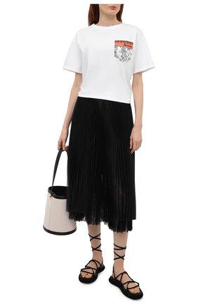 Женская плиссированная юбка ERMANNO FIRENZE черного цвета, арт. D38ET GN210RG | Фото 2