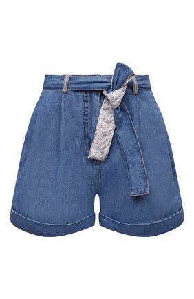 Женские джинсовые шорты ERMANNO FIRENZE голубого цвета, арт. D38ET JC020PR | Фото 1