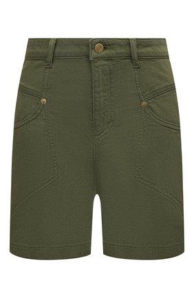 Женские джинсовые шорты ERMANNO FIRENZE зеленого цвета, арт. D38ET JC040PR | Фото 1