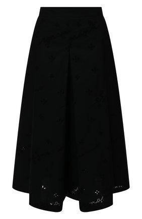 Женский хлопковые кюлоты ERMANNO FIRENZE черного цвета, арт. D38ET PC01SAN | Фото 1