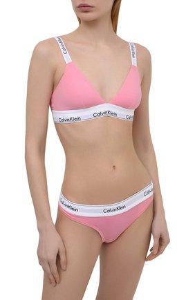 Женский бюстгальтер с мягкой чашкой CALVIN KLEIN розового цвета, арт. QF5980E | Фото 2