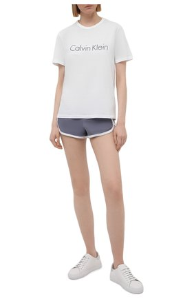 Женская хлопковая пижама CALVIN KLEIN серого цвета, арт. QS6711E | Фото 1