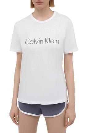 Женская хлопковая пижама CALVIN KLEIN серого цвета, арт. QS6711E | Фото 2