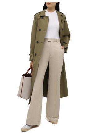 Женский пуловер из шелка и хлопка LORO PIANA белого цвета, арт. FAL7135 | Фото 2