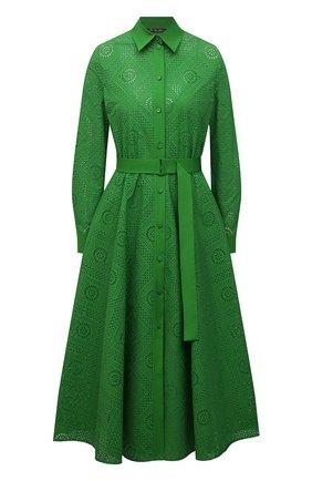 Женское хлопковое платье LORO PIANA зеленого цвета, арт. FAL5871 | Фото 1