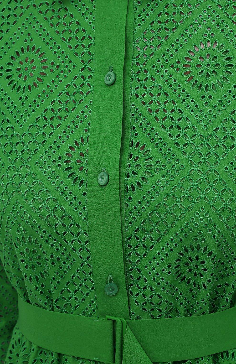 Женское хлопковое платье LORO PIANA зеленого цвета, арт. FAL5871 | Фото 5