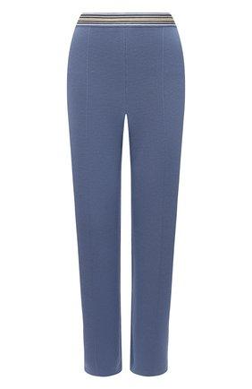 Женские брюки из шелка и хлопка LORO PIANA голубого цвета, арт. FAL5826 | Фото 1