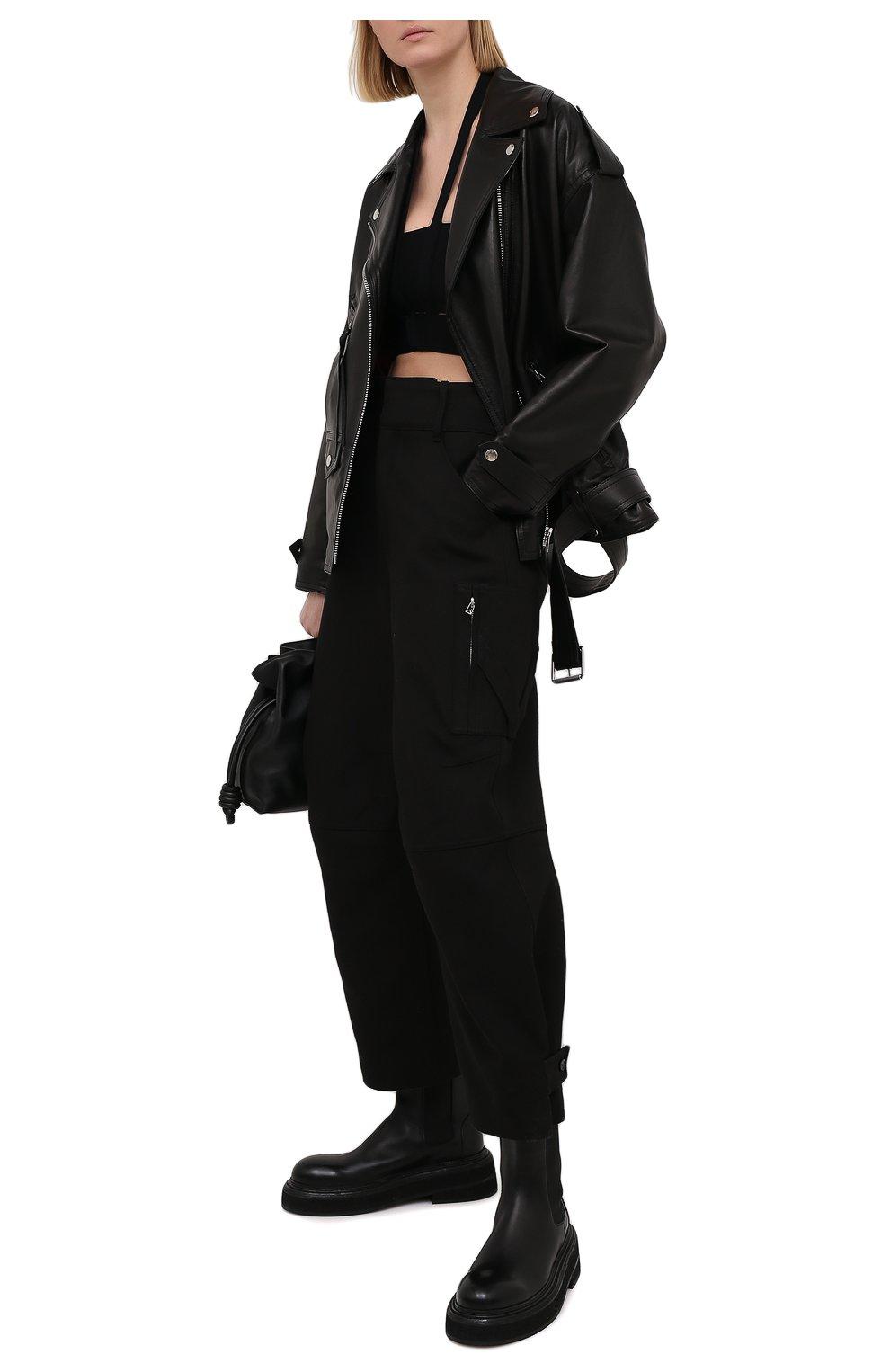 Женский топ из вискозы AMBUSH черного цвета, арт. BWHA002S21KNI001 | Фото 2