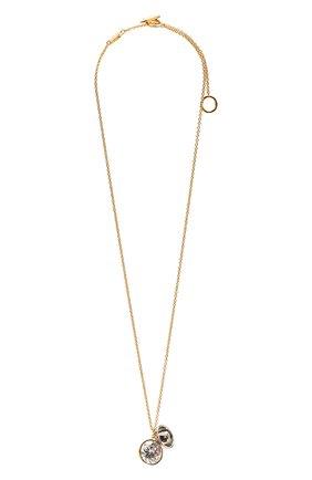 Женская кулон на цепочке LOEWE золотого цвета, арт. J646241X48 | Фото 1 (Материал: Металл)