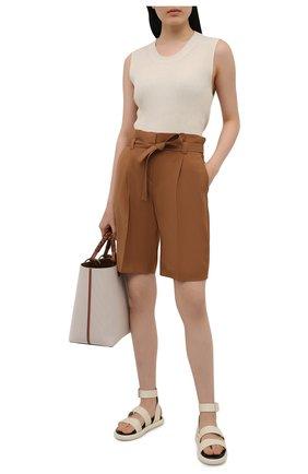 Женские шерстяные шорты WINDSOR коричневого цвета, арт. 52 DH565 10011410 | Фото 2