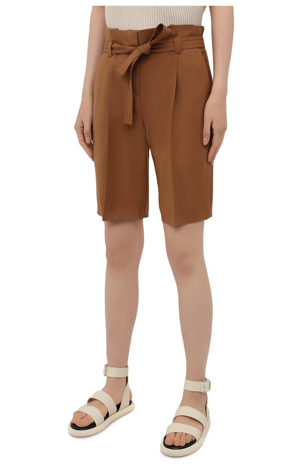 Женские шерстяные шорты WINDSOR коричневого цвета, арт. 52 DH565 10011410 | Фото 3