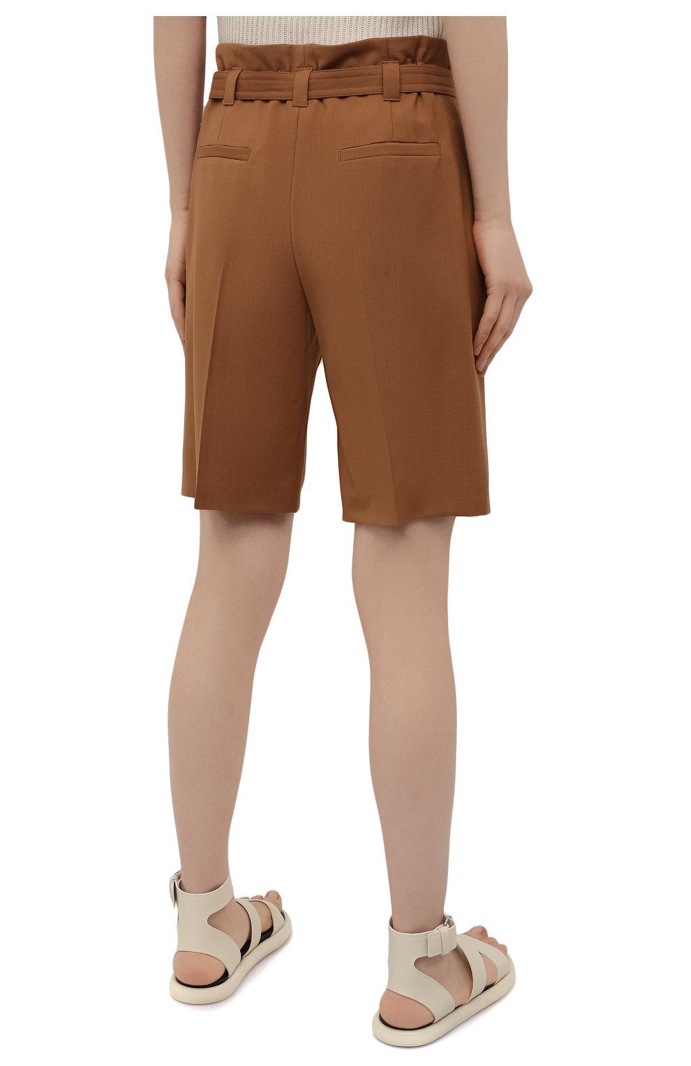 Женские шерстяные шорты WINDSOR коричневого цвета, арт. 52 DH565 10011410 | Фото 4