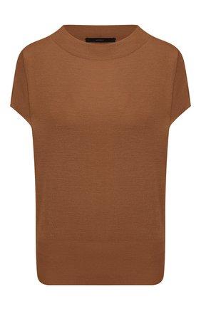 Женский шелковый топ WINDSOR коричневого цвета, арт. 52 DP531 10003040 | Фото 1