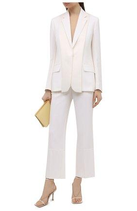 Женские шерстяные брюки VICTORIA BECKHAM белого цвета, арт. 1221WTR002763B | Фото 2