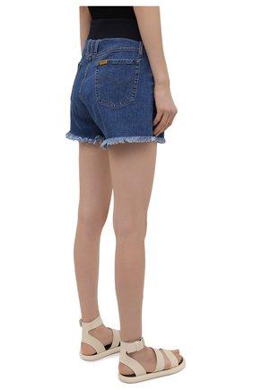 Женские джинсовые шорты PIETRO BRUNELLI синего цвета, арт. JP0SH0/DEC096 | Фото 4 (Женское Кросс-КТ: Шорты-одежда; Кросс-КТ: Деним; Длина Ж (юбки, платья, шорты): Мини; Материал внешний: Хлопок; Стили: Спорт-шик)