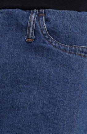Женские джинсовые шорты PIETRO BRUNELLI синего цвета, арт. JP0SH0/DEC096 | Фото 5 (Женское Кросс-КТ: Шорты-одежда; Кросс-КТ: Деним; Длина Ж (юбки, платья, шорты): Мини; Материал внешний: Хлопок; Стили: Спорт-шик)