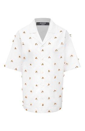 Женская хлопковая рубашка JACQUEMUS белого цвета, арт. 211SH20/119100 | Фото 1