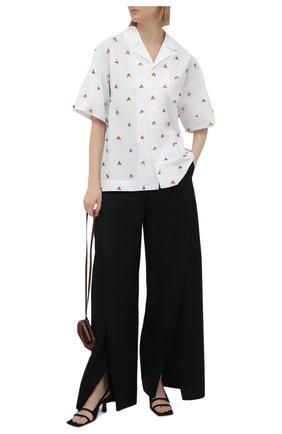 Женская хлопковая рубашка JACQUEMUS белого цвета, арт. 211SH20/119100 | Фото 2