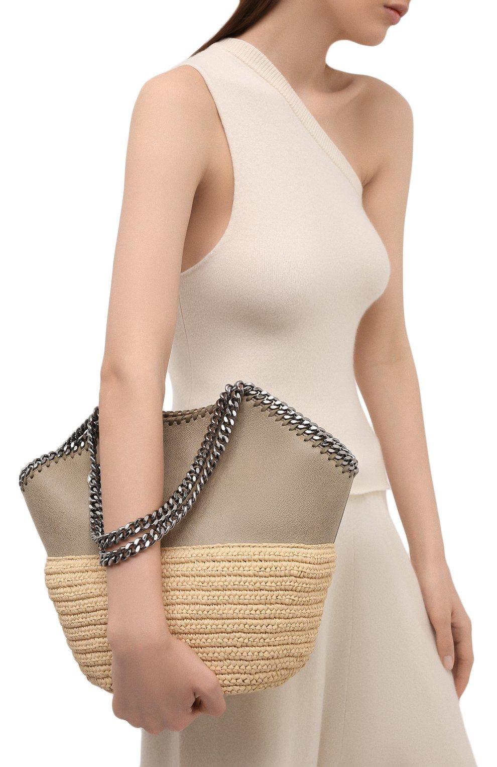 Женский сумка-тоут falabella small STELLA MCCARTNEY бежевого цвета, арт. 700225/W8805 | Фото 5