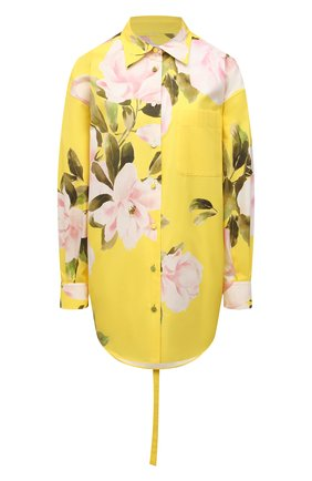Женская хлопковая рубашка VALENTINO желтого цвета, арт. VB0CI2606D6 | Фото 1