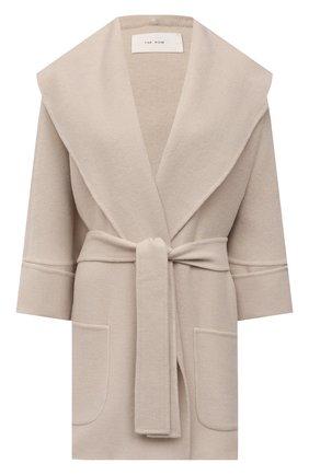 Женское пальто из кашемира и шерсти THE ROW бежевого цвета, арт. 5612W2033 | Фото 1