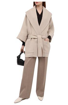 Женское пальто из кашемира и шерсти THE ROW бежевого цвета, арт. 5612W2033 | Фото 2