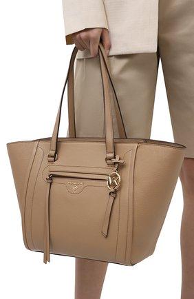 Женский сумка-тоут carine medium MICHAEL MICHAEL KORS бежевого цвета, арт. 30S1LCCT3L | Фото 2