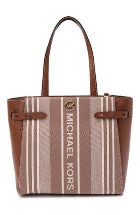 Женский сумка-тоут carmen large MICHAEL MICHAEL KORS коричневого цвета, арт. 30S1GNMT3C | Фото 1