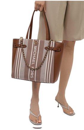 Женский сумка-тоут carmen large MICHAEL MICHAEL KORS коричневого цвета, арт. 30S1GNMT3C | Фото 2