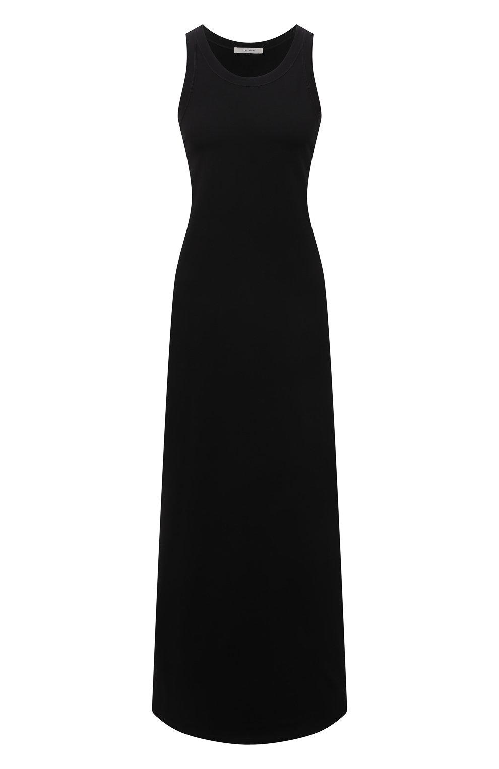 Женское хлопковое платье THE ROW черного цвета, арт. 3983K220   Фото 1
