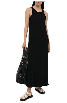 Женское хлопковое платье THE ROW черного цвета, арт. 3983K220 | Фото 2