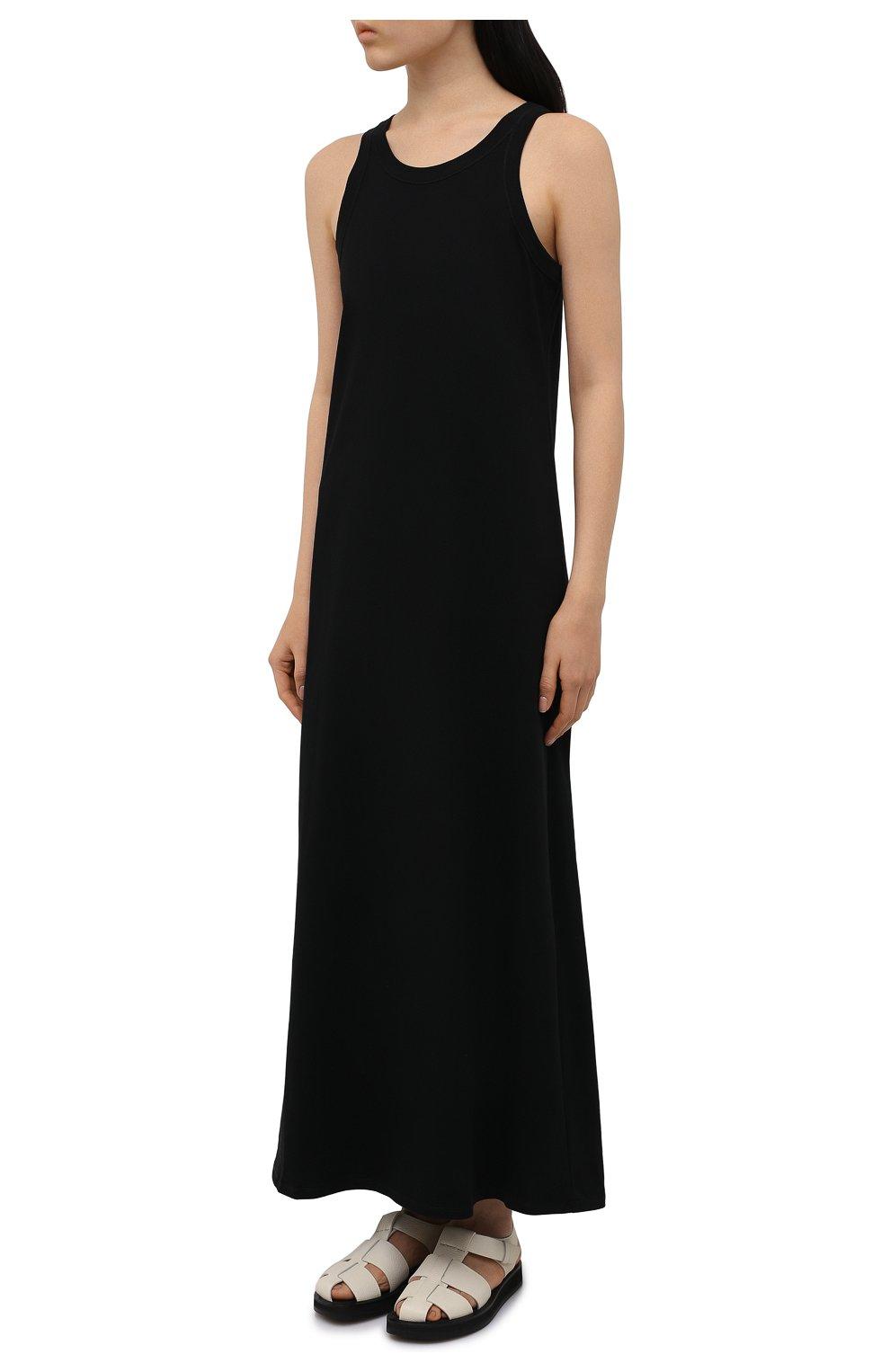 Женское хлопковое платье THE ROW черного цвета, арт. 3983K220   Фото 3