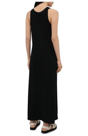 Женское хлопковое платье THE ROW черного цвета, арт. 3983K220   Фото 4