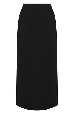 Женская юбка из вискозы и шерсти THE ROW черного цвета, арт. 5485W1973 | Фото 1