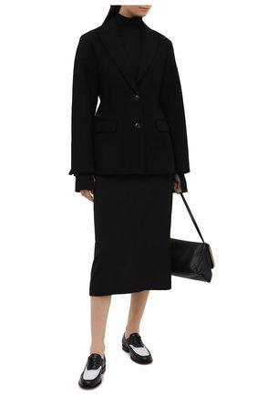 Женская юбка из вискозы и шерсти THE ROW черного цвета, арт. 5485W1973 | Фото 2