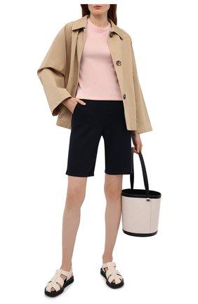 Женский пуловер из шелка и хлопка LORO PIANA светло-розового цвета, арт. FAL7135 | Фото 2