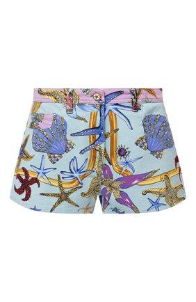 Женские джинсовые шорты VERSACE разноцветного цвета, арт. A89236/1F01129 | Фото 1