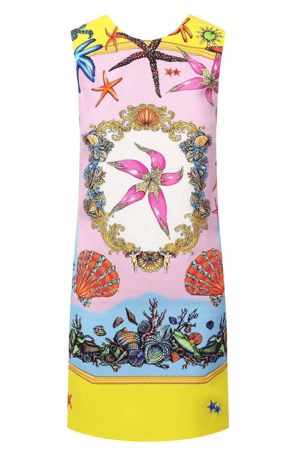 Женское платье из вискозы VERSACE разноцветного цвета, арт. A89134/1F00958   Фото 1