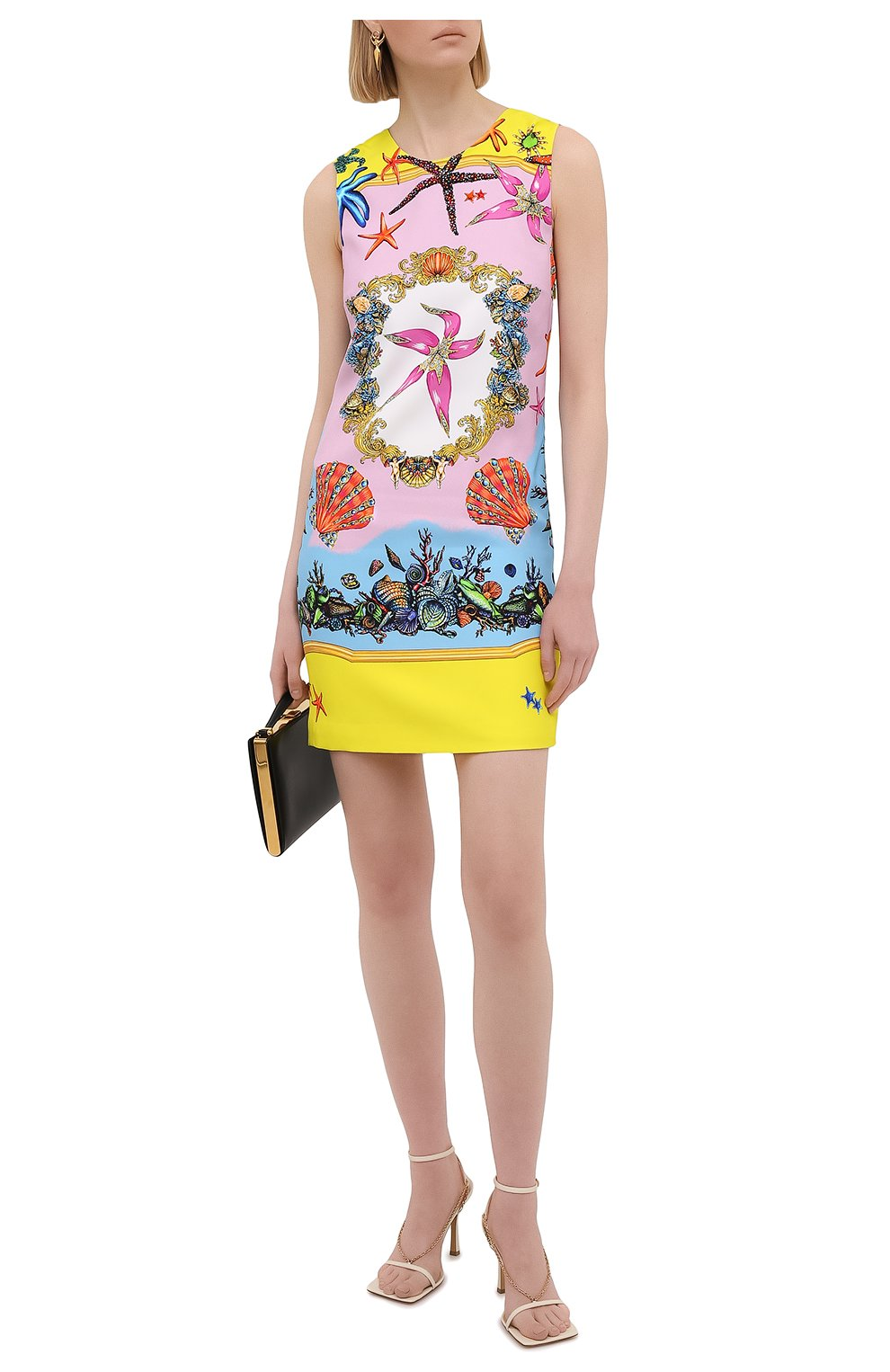 Женское платье из вискозы VERSACE разноцветного цвета, арт. A89134/1F00958   Фото 2